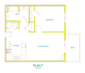 Home Designer Pro 8.0: UNIT F ONE BDRM.plan